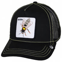 Queen Bee Mesh Trucker Snapback Baseball Cap