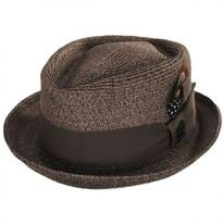 Toyo Straw Diamond Crown Fedora Hat