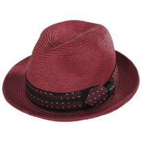 Tie Band Straw Trilby Fedora Hat