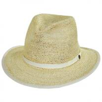 Pt. Loma Crochet Raffia Straw Fedora Hat