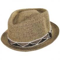 Albequerque Toyo Straw Diamond Crown Fedora Hat