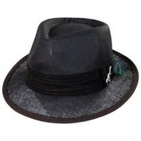 Peacock Trim Toyo Straw Fedora Hat
