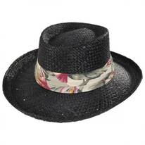 Back Nine Raffia Straw Gambler Hat