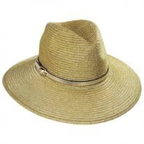 Forge Metallic Straw Fedora Hat