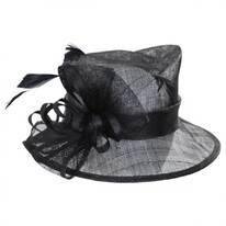 Delta Sinamay Straw Downbrim Hat