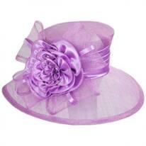 Zinnia Sinamay Straw Boater Hat