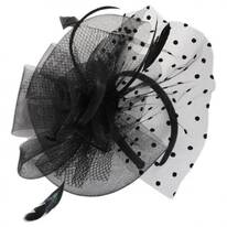 Swiss Dot Mesh Fascinator Headband