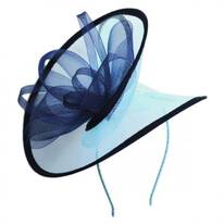 Two-Tone Swirl Mesh Fascinator Headband