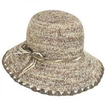 Baja Crocheted Straw Cloche Hat