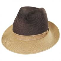 Hatfield Hemp Straw Fedora Hat