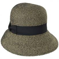 Tweed Braid Toyo  Straw Cloche Hat