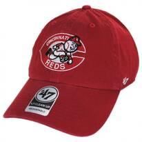 Cincinnati Red MLB Cooperstown Clean Up Strapback Baseball Cap Dad Hat