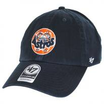 Houston Astros MLB Cooperstown Clean Up Strapback Baseball Cap Dad Hat