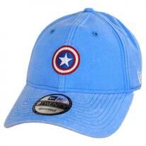 Marvel Captain America Rugged 9Twenty Strapback Baseball Cap Dad Hat