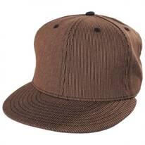 Corduroy Print Snapback Baseball Cap