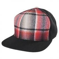 Plaid Snapback Baseball Cap
