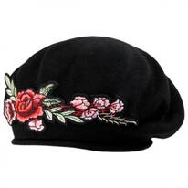 Floral Patch Cotton Beret