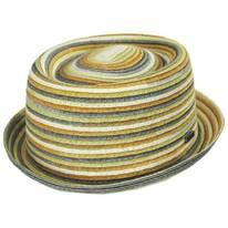 Spacedyed Toyo Straw Braid Pork Pie Hat