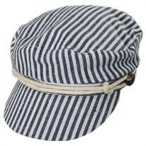 Striped Cotton Sailor's Cap