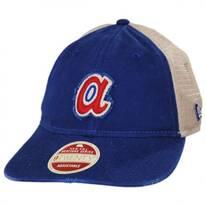 Atlanta Braves 1972-1980 Strapback Trucker Baseball Cap