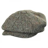 Carloway Harris Tweed Wool Herringbone Newsboy Cap