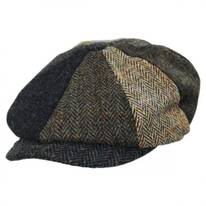 Lewis Harris Tweed Multi Wool Newsboy Cap