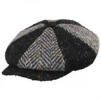 Magee 1866 Donegal Tweed Green Wool Newsboy Cap