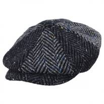 Magee 1866 Donegal Tweed Blue Wool Newsboy Cap