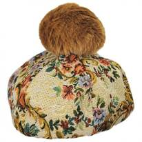 Brocade Cotton Blend Beret