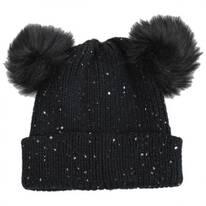 Pom Ears Beanie Hat
