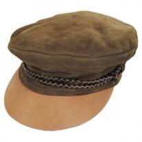 Kayla Leather Suede Fiddler Cap