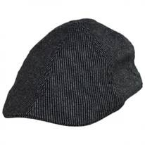 Pinstripe Wool and Cotton Blend Duckbill Cap