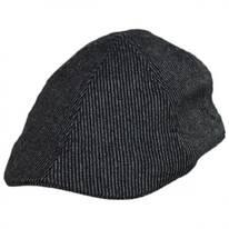 Pinstripe Wool and Cotton Blend Duckbill Cap