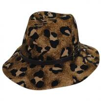 Cheetah Wool Felt Gambler Hat