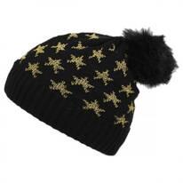 Lurex Star Beanie Hat