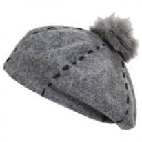 Stitch Pom Wool Beret