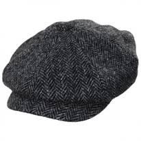 Carloway Harris Tweed Wool Herringbone Newsboy Cap