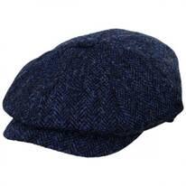 Harris Tweed Skye Wool Newsboy Cap