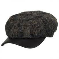 Vintage Shetland Wool Check Newsboy Cap