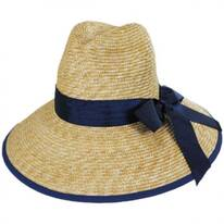 Celine Milan Straw Downbrim Fedora Hat