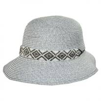 Diamante Toyo Straw Cloche Hat