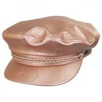 Vegan Leather Fiddler Cap