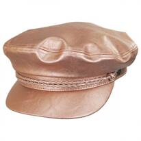 Vegan Leather Fiddler Cap