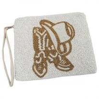 Durango Beaded Cotton Zipper Clutch