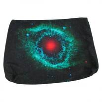 Helix Nebula Cotton Canvas Zipper Clutch