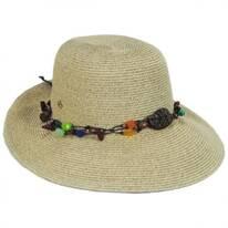 Del Toyo Straw Blend Facesaver Hat