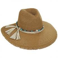 Pompano Toyo Straw Blend Fedora Hat