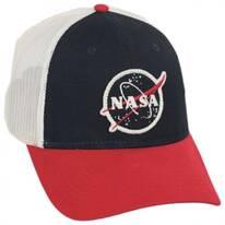 Roughage NASA Mesh Trucker Snapback Baseball Cap