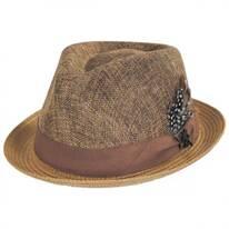New York Toyo Straw Blend Fedora Hat