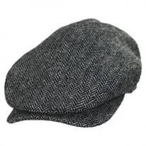 Chiswick Square Bill Wool Herringbone Ivy Cap